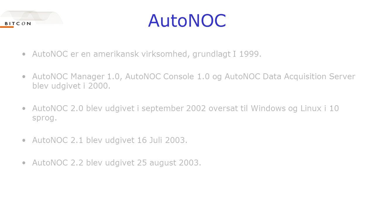 AutoNOC •AutoNOC er en amerikansk virksomhed, grundlagt I 1999.