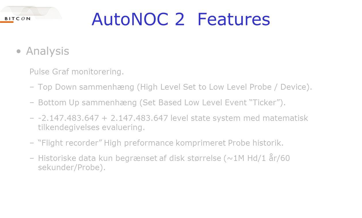 AutoNOC 2 Features •Analysis Pulse Graf monitorering.
