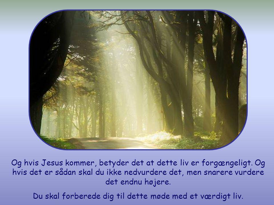 Og alligevel ved du ikke om Kristus kommer i dag, i aften, i morgen, om ét år eller senere.