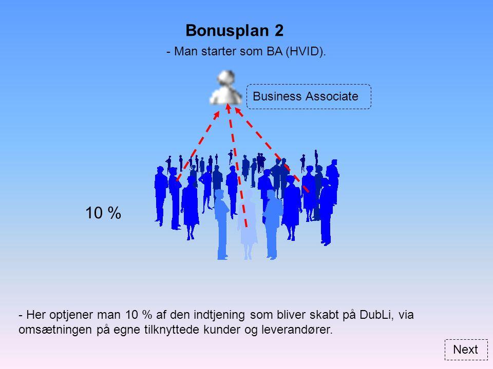 Bonusplan 2 Business Associate - Man starter som BA (HVID).