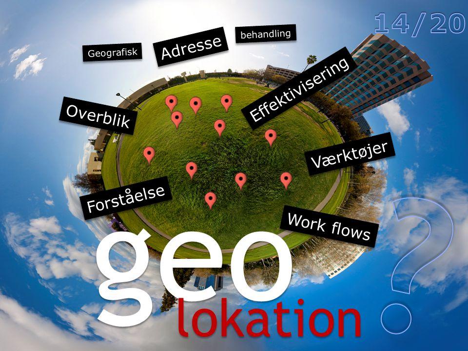 geo lokation Værktøjer Overblik Forståelse Effektivisering Adresse behandling Geografisk Work flows