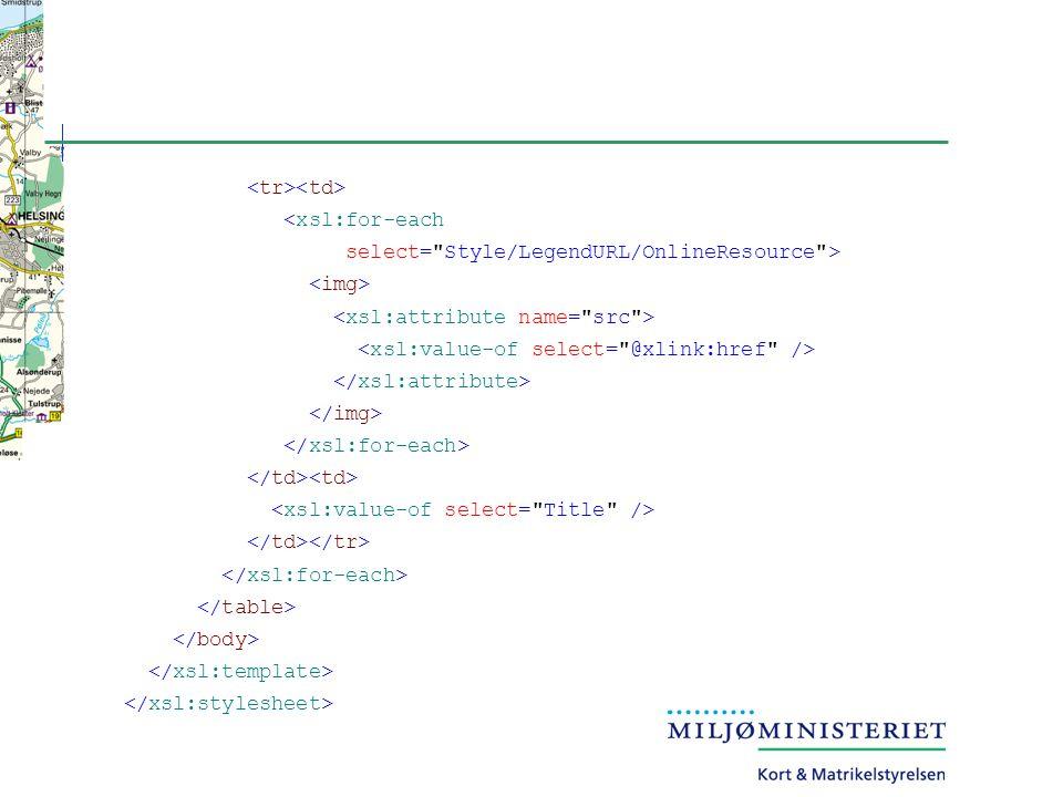 <xsl:for-each select= Style/LegendURL/OnlineResource >