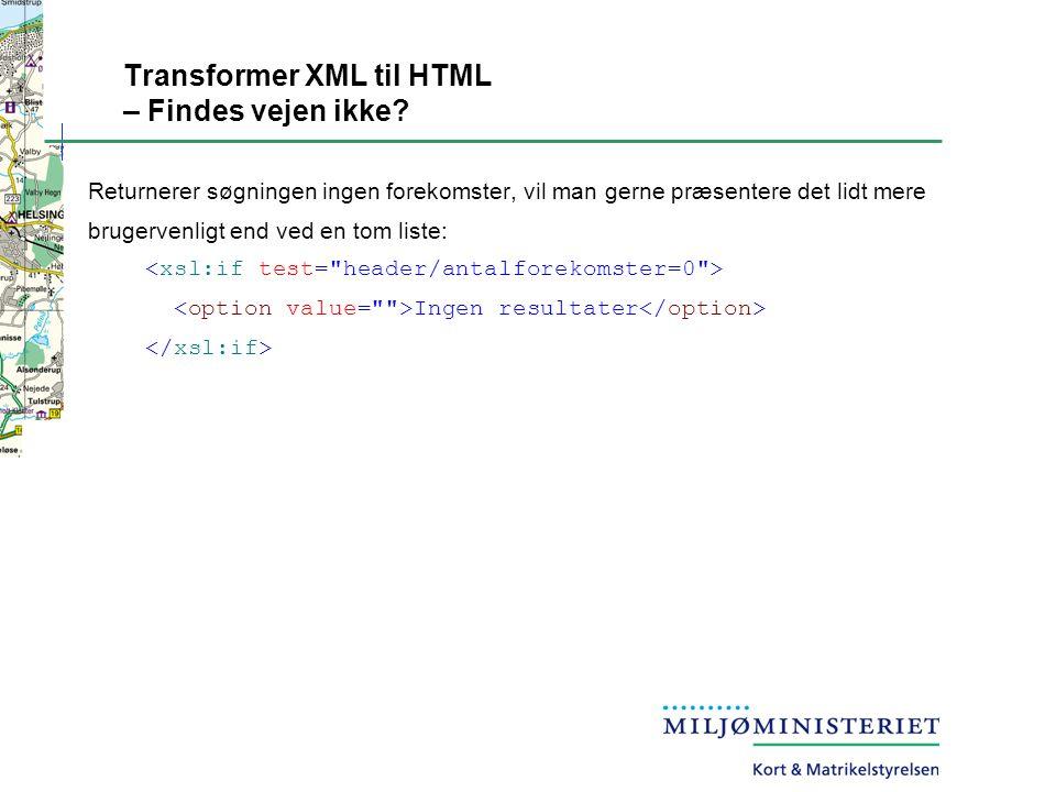 Transformer XML til HTML – Findes vejen ikke.
