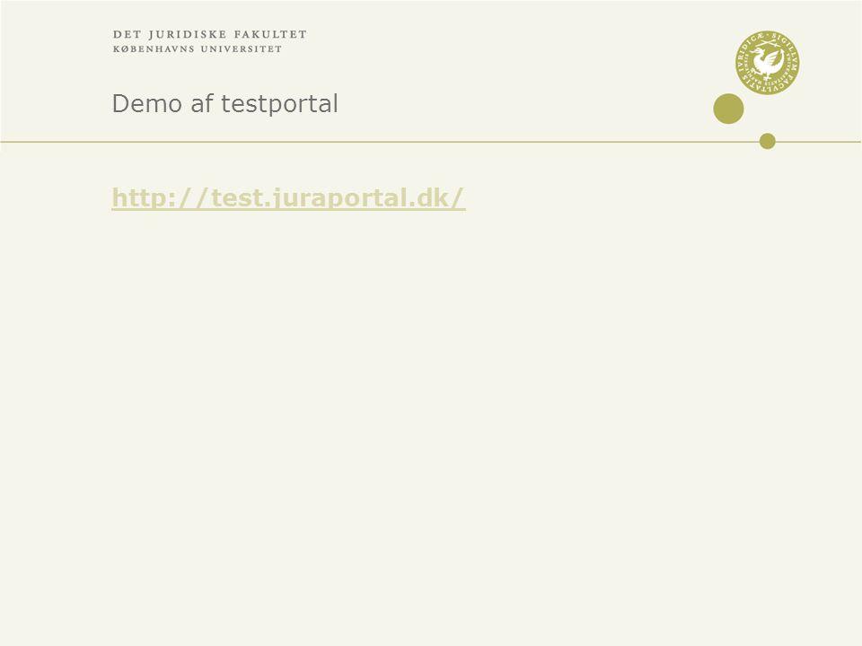 Demo af testportal http://test.juraportal.dk/