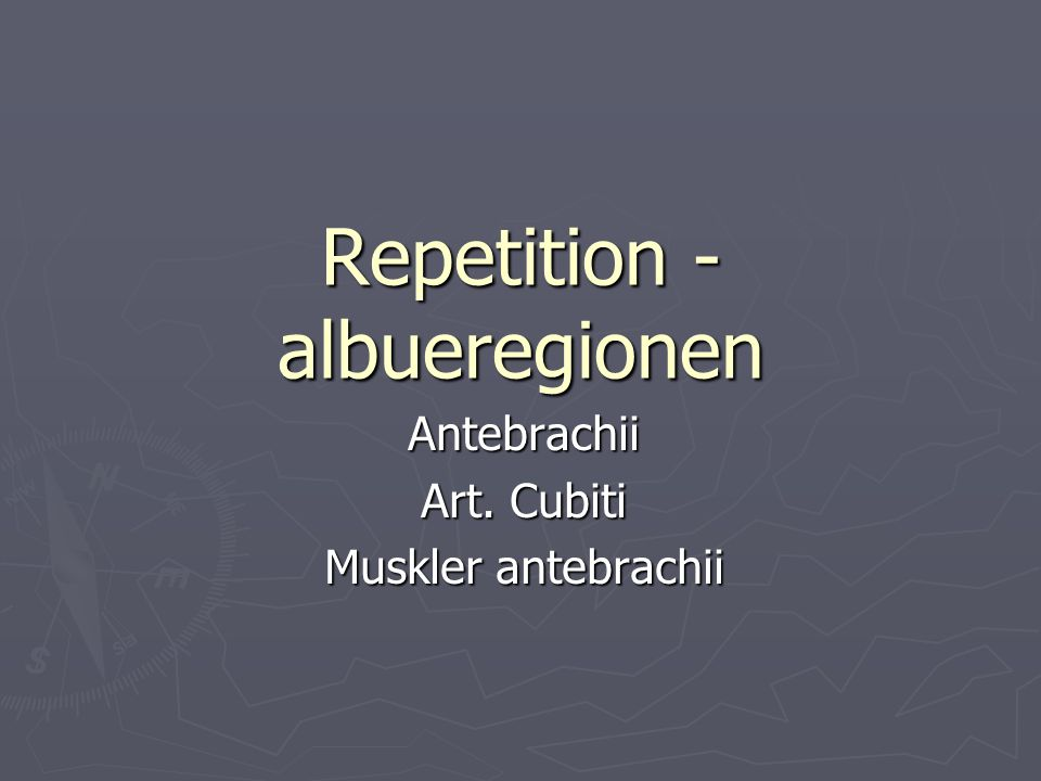 Musklernes funktion ► Fleksion i art.Cubiti  M. brachialis  M.