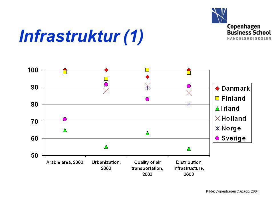 Infrastruktur (1) Kilde: Copenhagen Capacity 2004