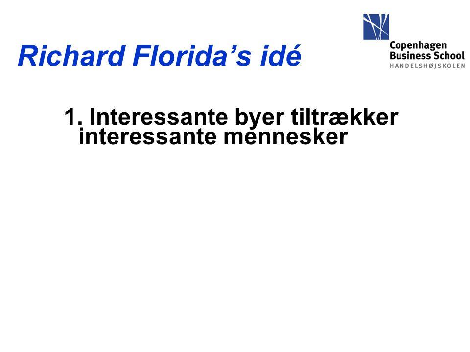 Richard Florida's idé 1. Interessante byer tiltrækker interessante mennesker
