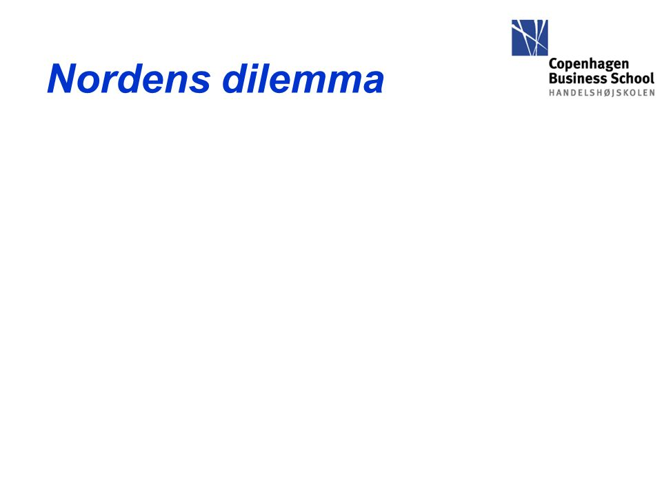 Nordens dilemma