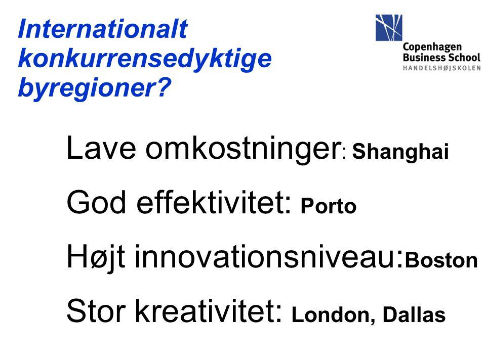 Internationalt konkurrensedyktige byregioner.