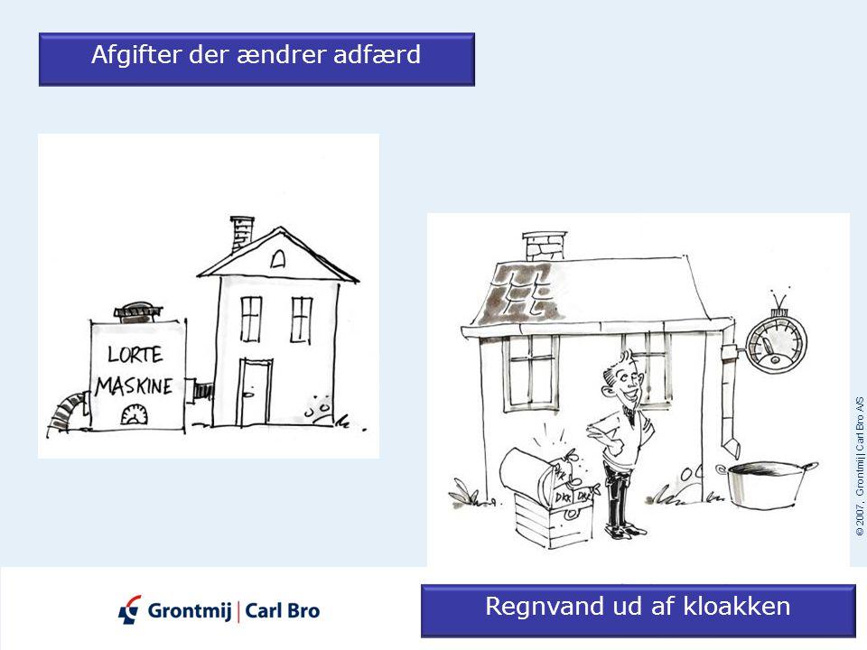 © 2007, Grontmij | Carl Bro A/S 16 Afgifter der ændrer adfærd Regnvand ud af kloakken