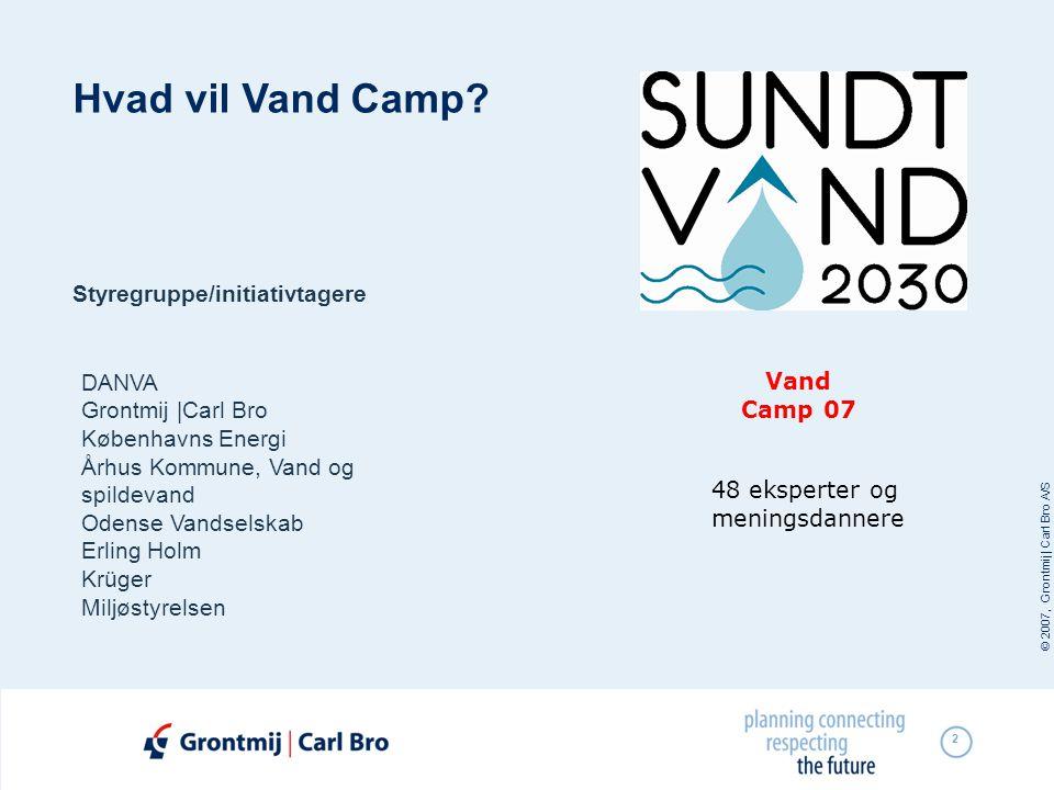 © 2007, Grontmij | Carl Bro A/S 2 Hvad vil Vand Camp.