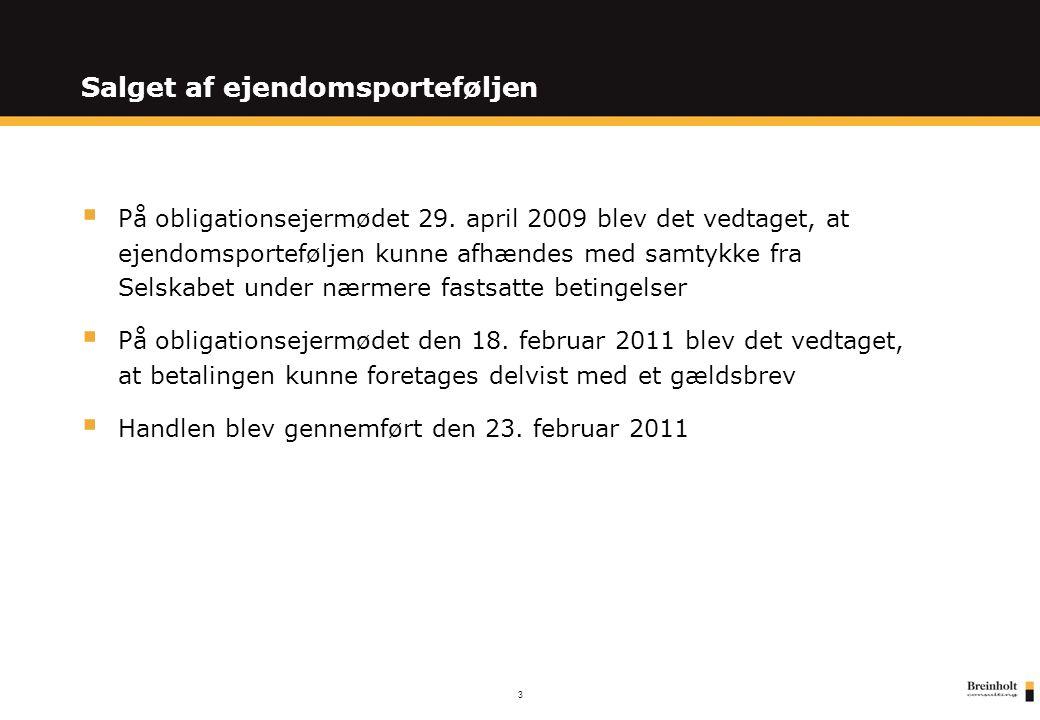 3 Salget af ejendomsporteføljen  På obligationsejermødet 29.
