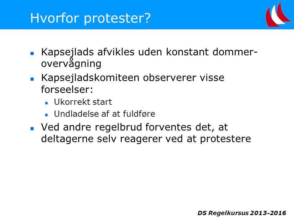 DS Regelkursus 2013-2016 Hvorfor protester.