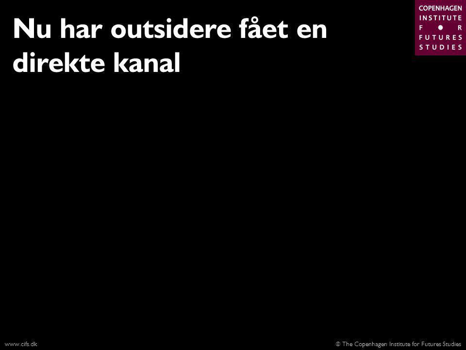 © The Copenhagen Institute for Futures Studieswww.cifs.dk Nu har outsidere fået en direkte kanal