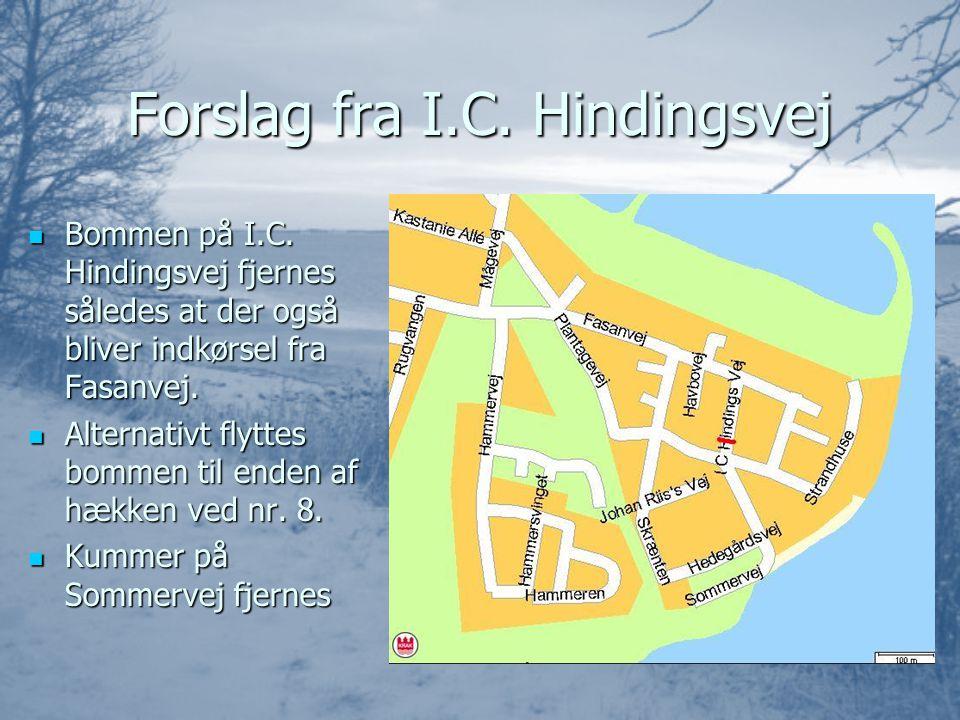 Forslag fra I.C. Hindingsvej  Bommen på I.C.