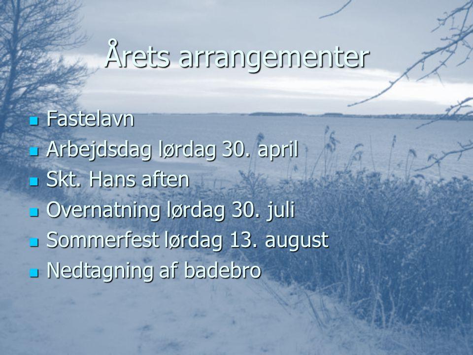 Årets arrangementer FFFFastelavn AAAArbejdsdag lørdag 30.
