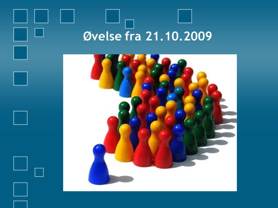 Øvelse fra 21.10.2009