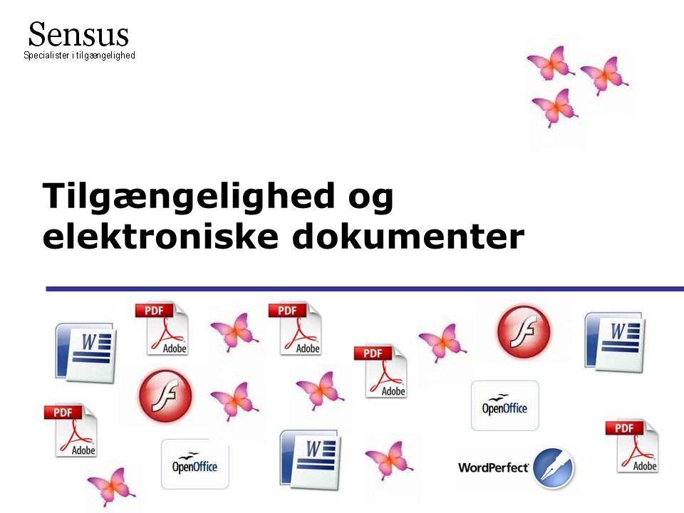 Tilgængelighed og elektroniske dokumenter