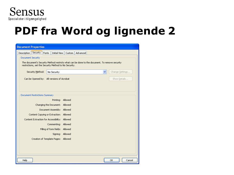 PDF fra Word og lignende 2