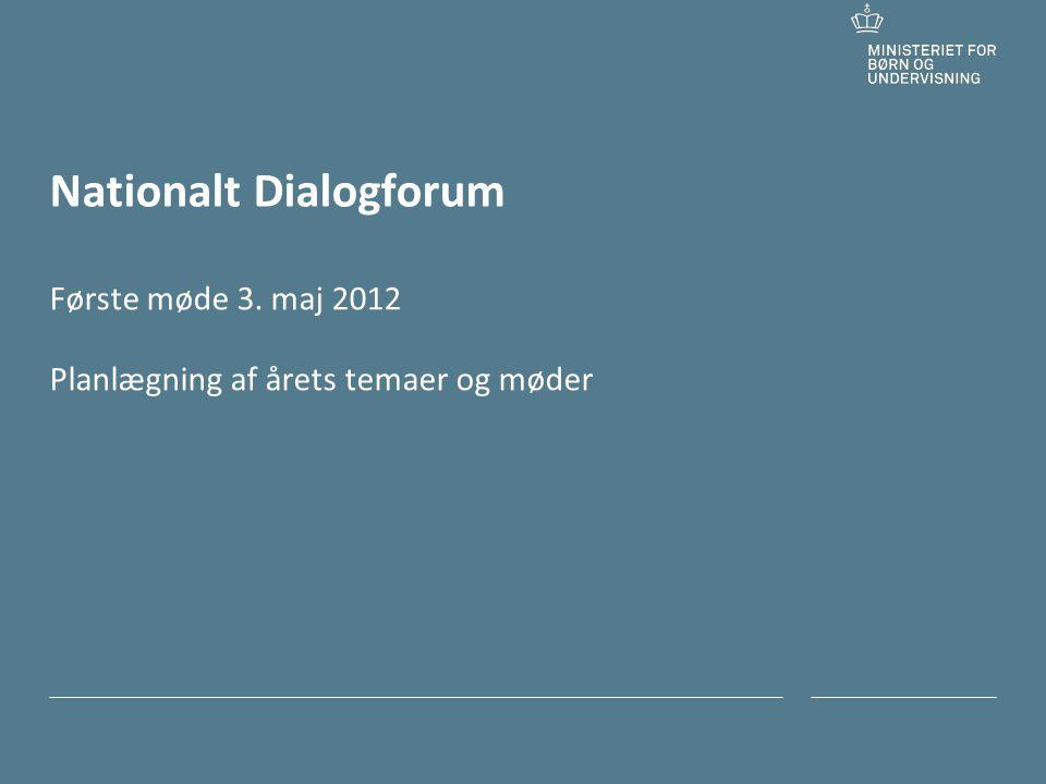 Tilføj hjælpelinjer: 1.Højreklik et sted i det grå område rundt om dette dias 2.Vælg Gitter og hjælpelinjer 3.Vælg Vis hjælpelinjer på skærm Nationalt Dialogforum Første møde 3.