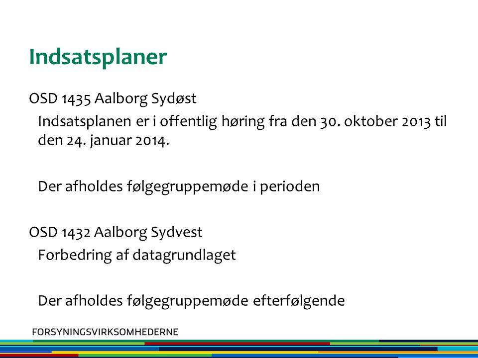 Indsatsplaner OSD 1435 Aalborg Sydøst Indsatsplanen er i offentlig høring fra den 30.