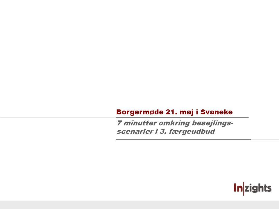 Tilbageblik Scenarioeksempel Fordele og ulemper Side 1 7 minutter omkring besejlings- scenarier i 3.