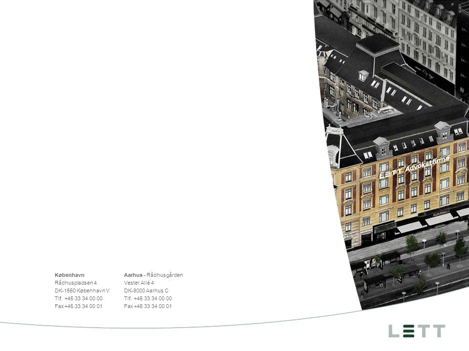 KøbenhavnAarhus - Rådhusgården Rådhuspladsen 4Vester Allé 4 DK-1550 København VDK-8000 Aarhus C Tlf.+45 33 34 00 00Tlf.+45 33 34 00 00 Fax+45 33 34 00 01Fax+45 33 34 00 01 Bagside, vælg fra Slideshopperen / Bagsider Side 14