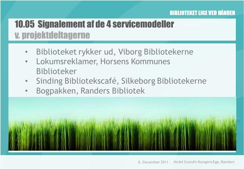 BIBLIOTEKET LIGE VED HÅNDEN 10.05 Signalement af de 4 servicemodeller v.