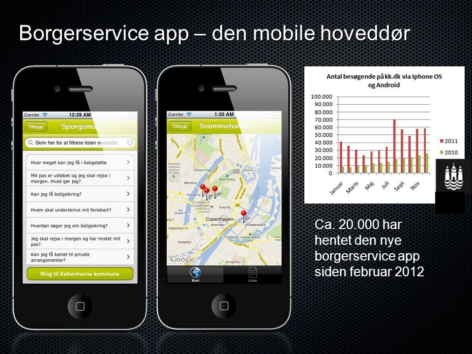 Borgerservice app – den mobile hoveddør Ca.