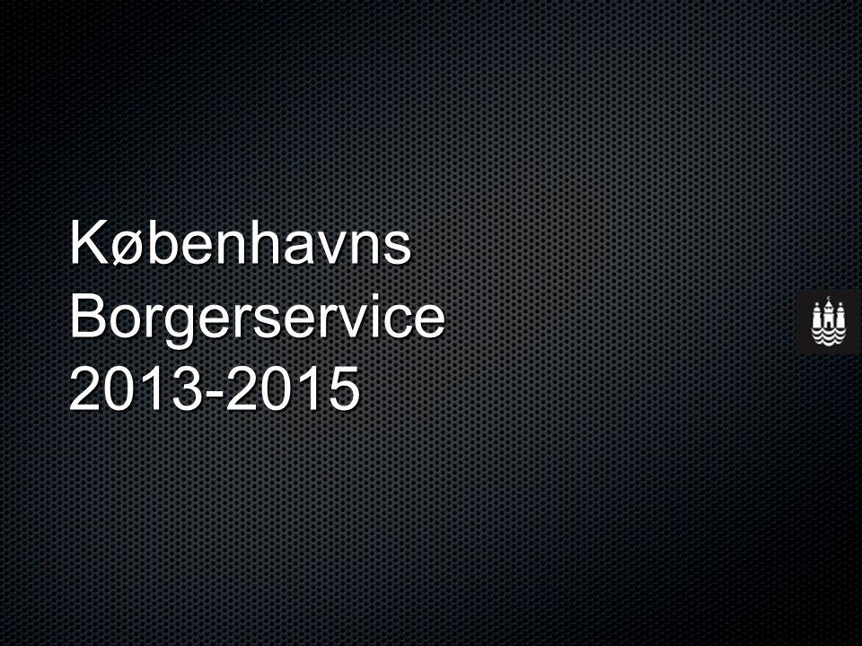 Københavns Borgerservice 2013-2015