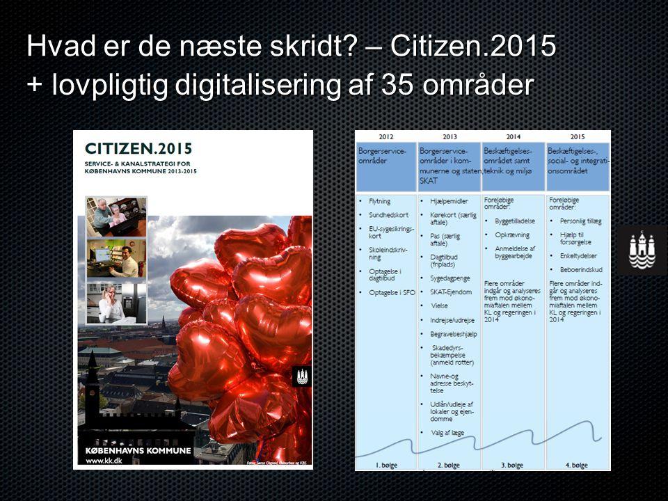Hvad er de næste skridt – Citizen.2015 + lovpligtig digitalisering af 35 områder