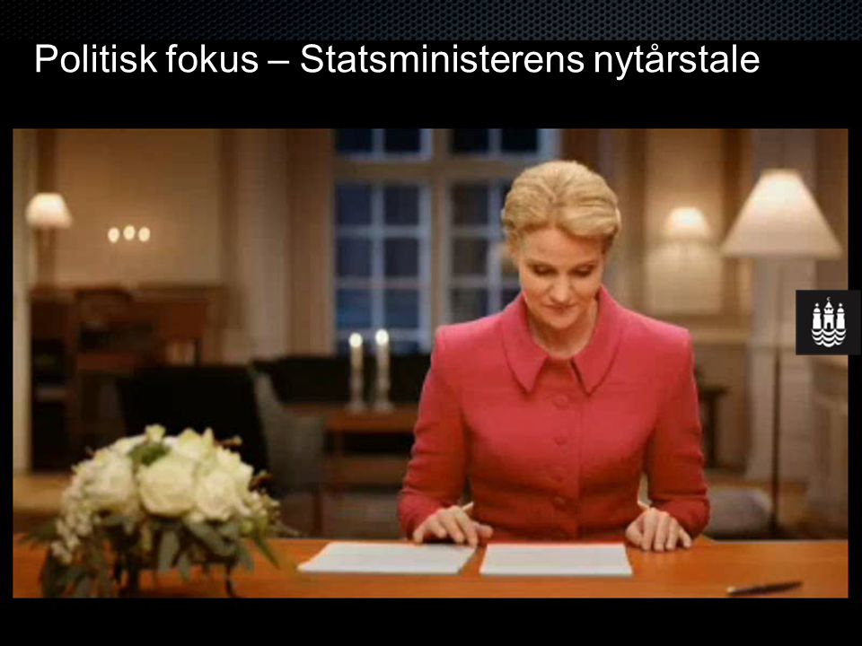 Politisk fokus – Statsministerens nytårstale