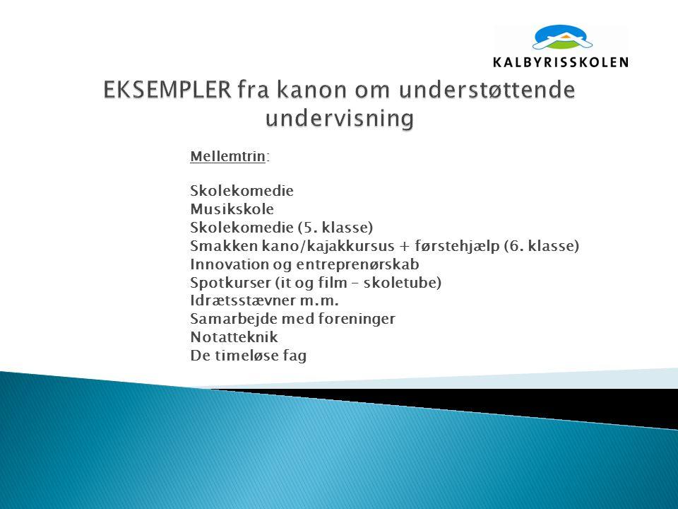 Mellemtrin: Skolekomedie Musikskole Skolekomedie (5.