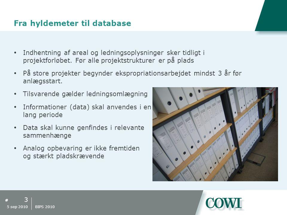 # Fra hyldemeter til database  Indhentning af areal og ledningsoplysninger sker tidligt i projektforløbet.