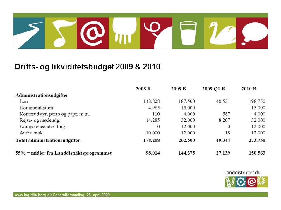 www.lag-silkeborg.dk Generalforsamling, 28. april 2009 Drifts- og likviditetsbudget 2009 & 2010