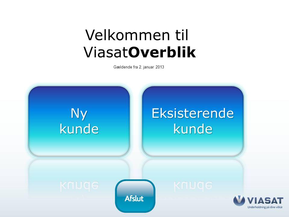 Velkommen til ViasatOverblik Gældende fra 2. januar 2013
