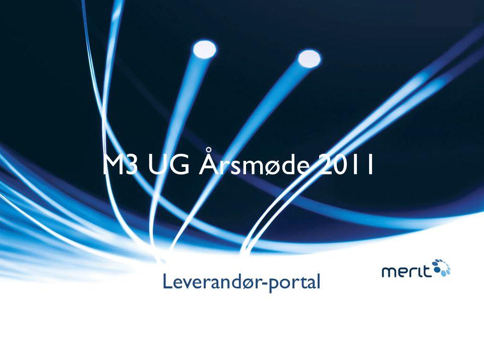 M3 UG Årsmøde 2011 Leverandør-portal
