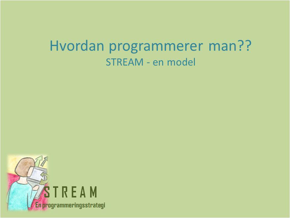 Hvordan programmerer man STREAM - en model