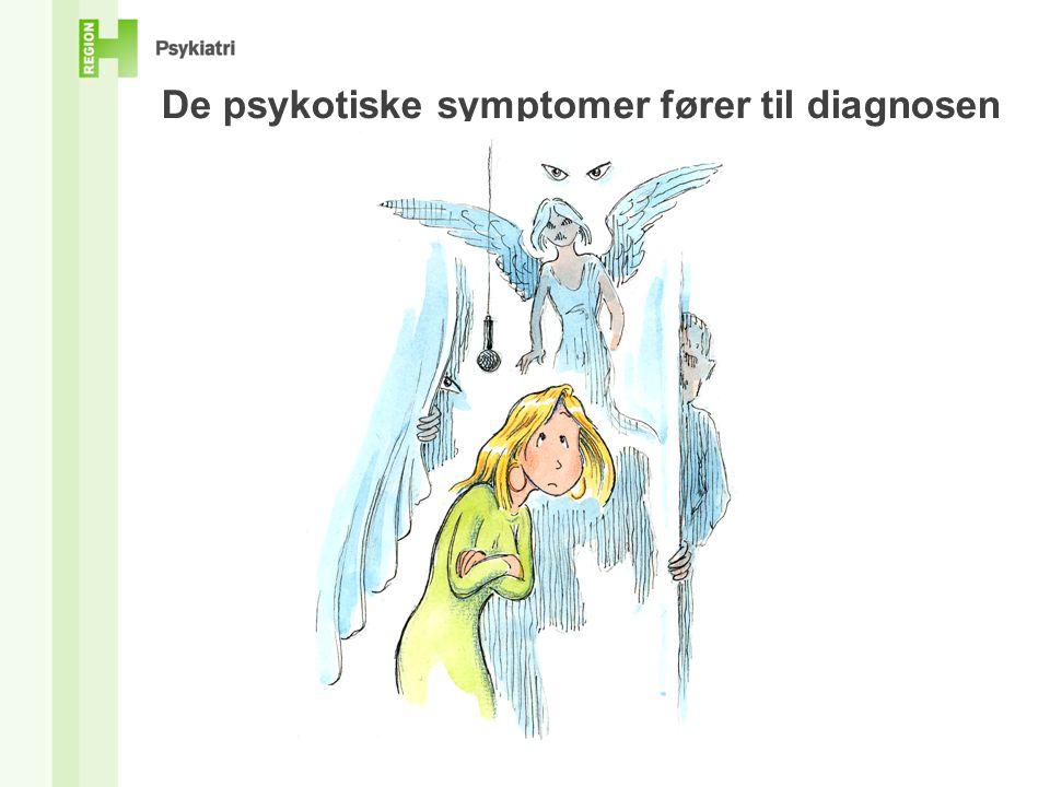 De psykotiske symptomer fører til diagnosen Tegning af Claes Movin