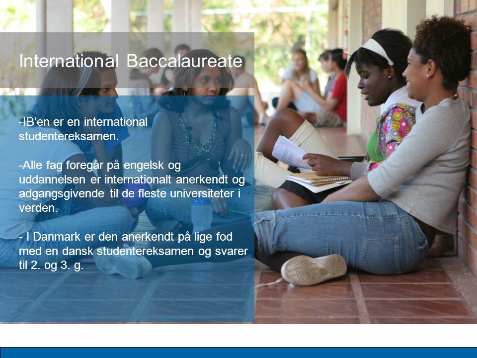 -IB'en er en international studentereksamen.