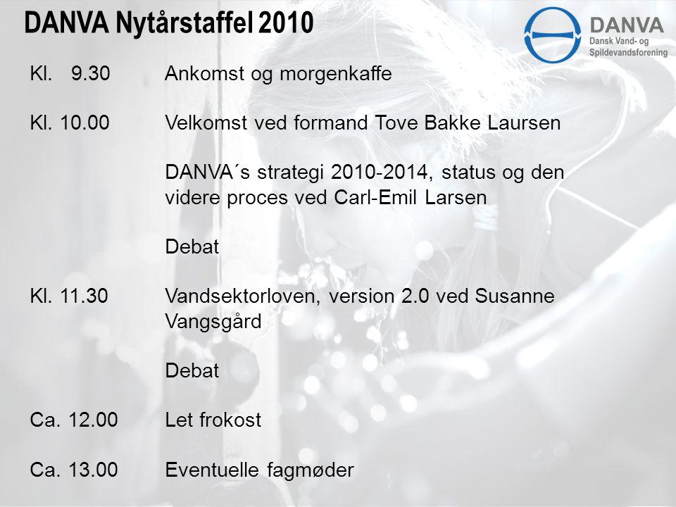 DANVA Nytårstaffel 2010 Kl. 9.30 Ankomst og morgenkaffe Kl.