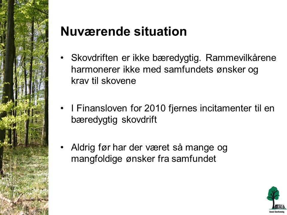 Nuværende situation •Skovdriften er ikke bæredygtig.