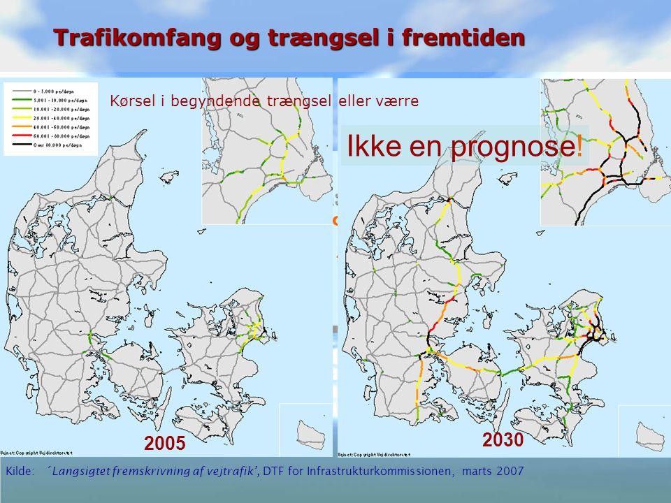 Ole Kveiborg 11 Infrastrukturkommissionen: Infrastrukturkommissionen: Vejtrafikken * vil vokse med ca.