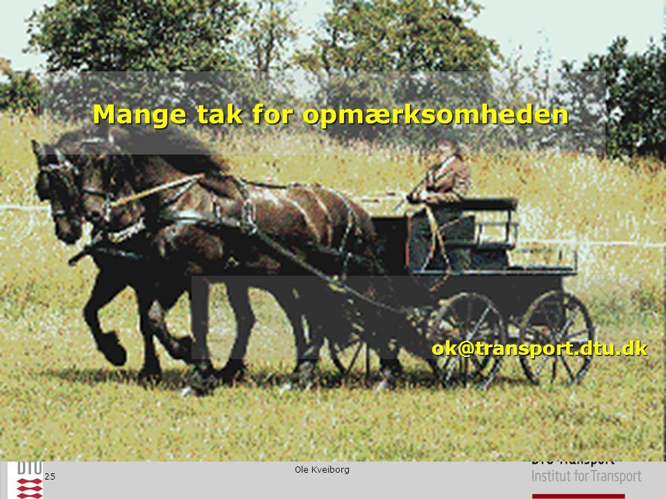 Ole Kveiborg 25 Mange tak for opmærksomheden ok@transport.dtu.dk