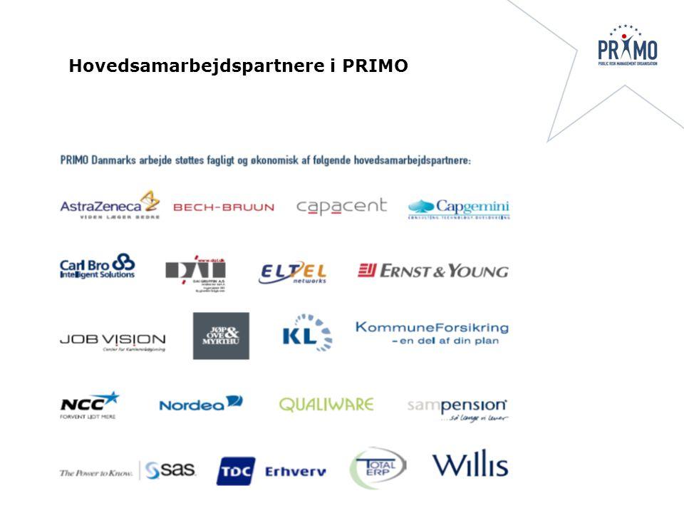 Hovedsamarbejdspartnere i PRIMO