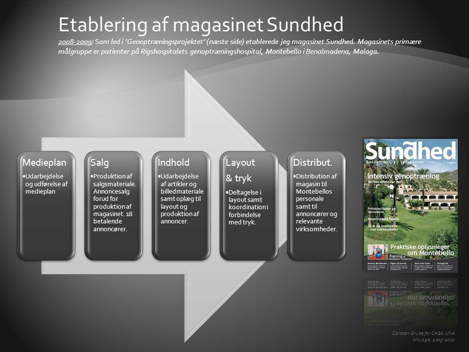 Medieplan •Udarbejdelse og udførelse af medieplan Salg •Produktion af salgsmateriale.
