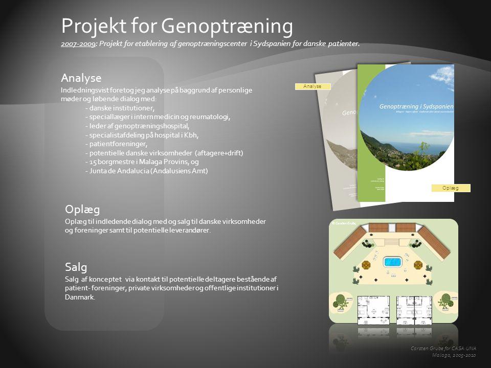Projekt for Genoptræning 2007-2009: Projekt for etablering af genoptræningscenter i Sydspanien for danske patienter.