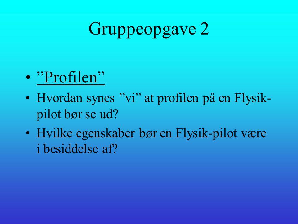 Flysikpilot- Hvordan har jeg oplevet det. •Lars E.