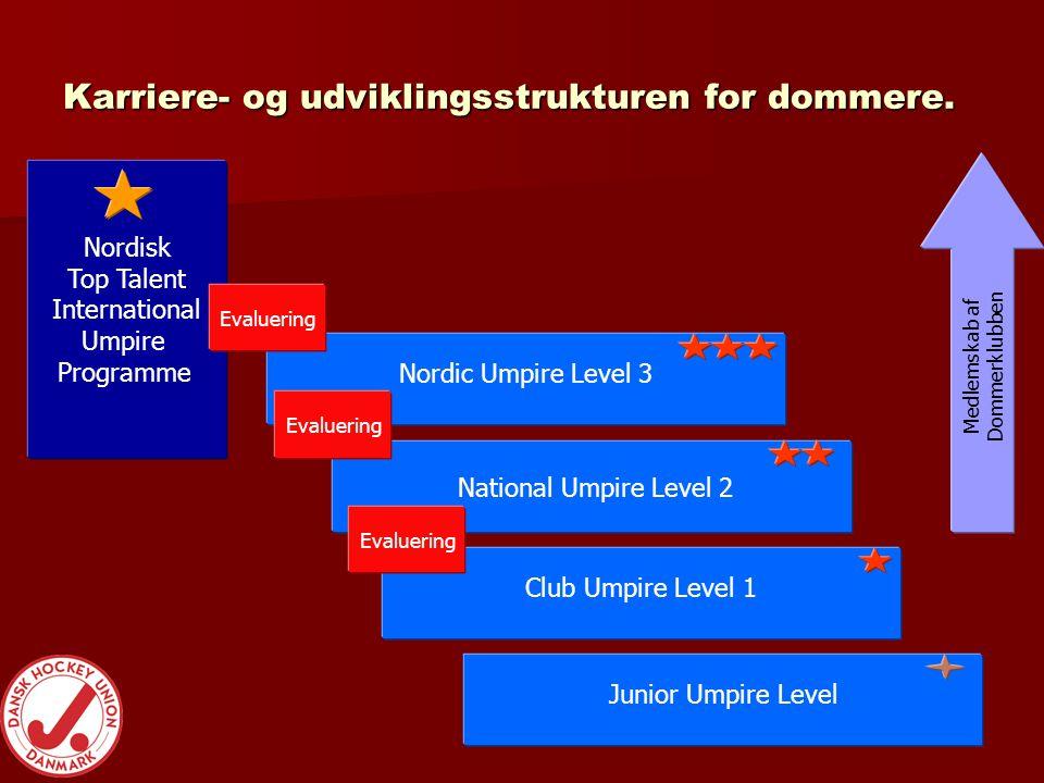 Karriere- og udviklingsstrukturen for dommere.