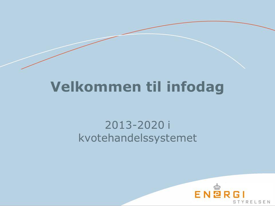 Velkommen til infodag 2013-2020 i kvotehandelssystemet
